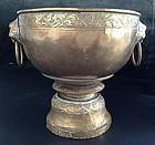 SINO-THAI Brass-Bronze Alloy Censer with Lion Heads