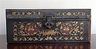 CHINESE PAINTED LEATHER CHEST, 19th Century