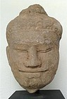 Genuine KHMER Sandstone Relief Angkor Period Head