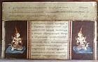 "THAI illustrated ""Bible"" with Sanskrit-Pali scripture"