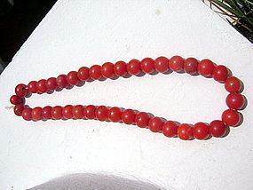 Ancient fiery red Carnelian Beads from India-Himalaya