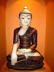 Serene & Rare Marble Shakyamuni Buddha, Burma
