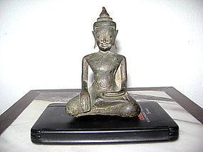 Fine Silver Alloy KHMER BUDDHA subduing Mara, 18th C.