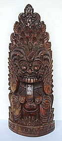 BALINESE EBONY WOODCARVING OF GODDESS RANGA