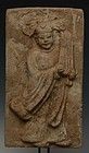 JIN DYNASTY SHANXI TOMB BRICK  OF MUSICIAN, CHINA (1115-1234 A.D.)