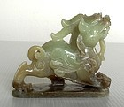 RARE GENUINE JADE CHIMERA BEAST, 18/19TH CENTURY, CHINA