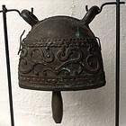 ANTIQUE BRONZE PASTORAL BELL, 19th CENTURY, BURMA