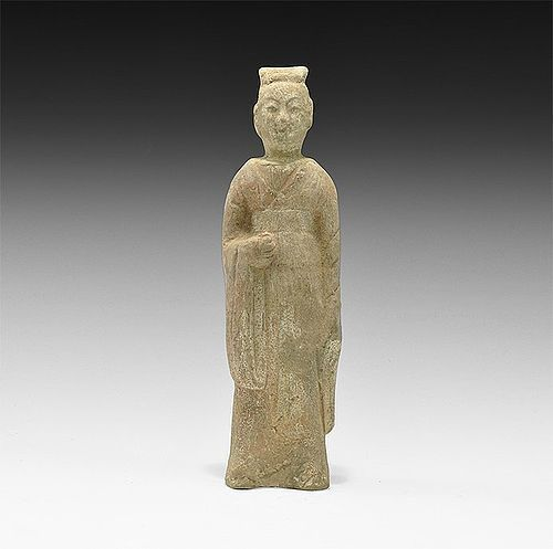 CHINESE QI DYNASTY ATTENDANT FIGURINE