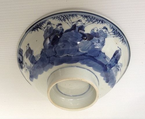 QING DYNASTY STEM BOWL WITH DOUBLE RING MARKING, 19TH CENTURY