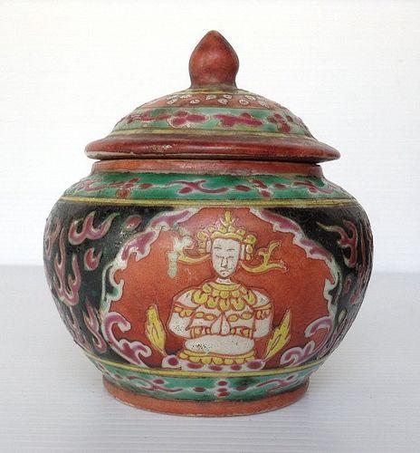 BENJARONG THAI PORCELAIN JARLET, SIAM, ca, 1850