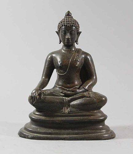 VERY FINE GENUINE CHIENG SAEN SING 1 BRONZE BUDDHA IN MEDITATION