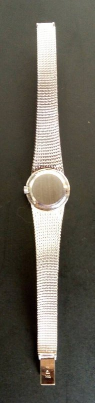 OMEGA DE VILLE  REF. 7257, 18K. WHITE GOLD LADY'S WRIST WATCH