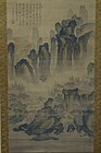 LARGE JAPANESE KANSHI SCROLL PAINTING BY YANAGAWA SEIGAN