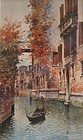 VENETIAN ORIGINAL WATER COLOR PAINTING OF CANAL BY ANDREA BIONDETTI