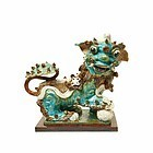 GLAZED CHINESE CERAMIC MALE FOO LION