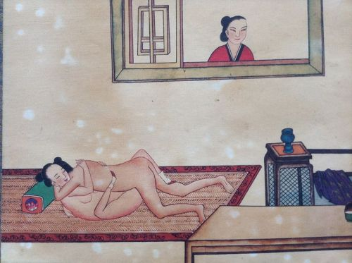 EROTIC CHINESE COLOR PAINTING, 18/19th CENTURY