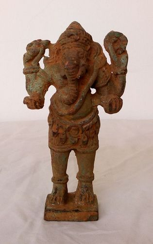 EXCAVATED 17th CENTURY BURMESE BRONZE GANESHA