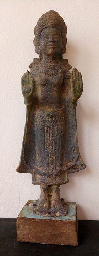 12/13th CENTURY BRONZE LOPBURI BUDDHA