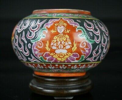 Antique Benjarong Porcelain Jarlet/Washer, 18/19th Century