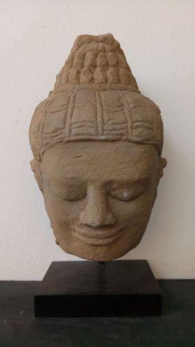 Angkor-Bayon-Khmer Sandstone Head