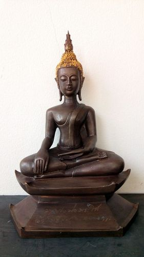 Antique Thai Bronze Buddha