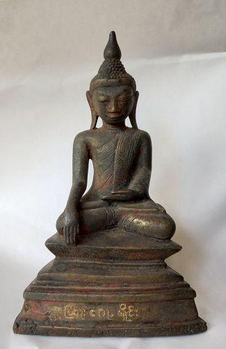 Shan Bronze Buddha 17/18th Century