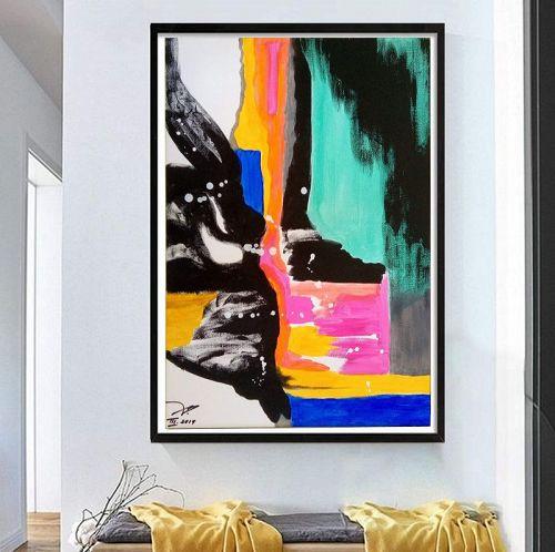 """""""BEAR TERRITORY"""" Original Acrylic Painting"""