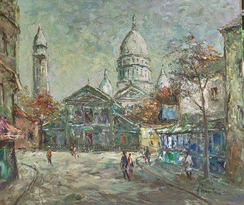 Original Oil Painting of Sacré-Coeur, PARIS,FRANCE