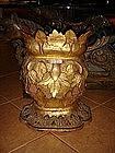 Pair Antique gilt Wooden Bases, 19th Cent. Burma