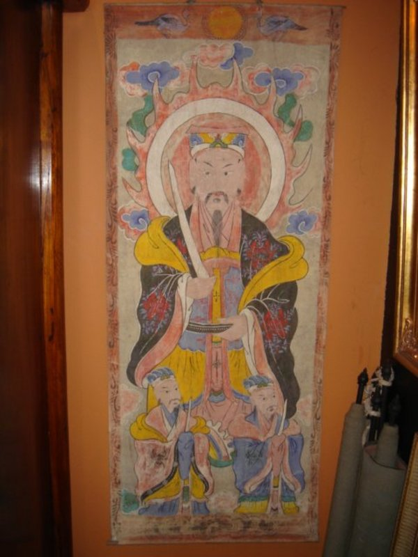 YAO (Mien) Ceremonial Hilltribe Painting of DAOIST God