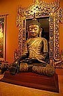 GIANT ANTIQUE SHAN LACQUER BUDDHA, 19TH CENTURY, BURMA