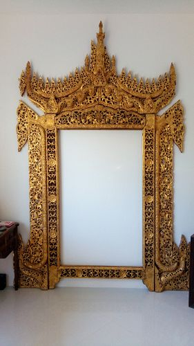 Gilded Palace Throne/Woodcarving, Burma, 19th Century