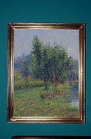 Impressionist Style Oil Painting Framed