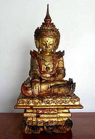 AMARAPURA Buddha in Royal Attire, Burma, 18th Century