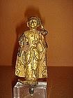 Gilded Bronze Sivalli Thera Itinerant Monk, 19th Cent.