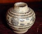 2 SAWANKHALOK painted Ceramic Pots, 14-15th Century