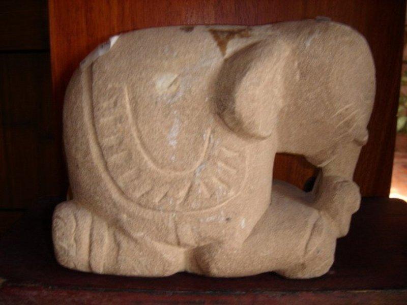 Sandstone Elephant, Burma, 17/18th Century