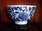 Blue + White Bowl, Ching Dynasty,Qing