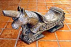 Unicorn Coconut Grater, Teak hand carved, 19th Cent.