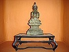Shan State Bronze Buddha on Tapered Throne, 19th Cent.