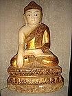 Marble Shakyamuni Buddha with Gilding, 18/19th Century