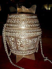 Yao Hilltribe Silver Purse-Basket, 19th Century (Thai)