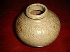 Celadon Vase, China, incised decor