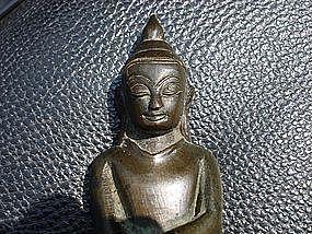Rare Post Pagan, PINYA Bronze Buddha, 14th Century (early AVA), Burma
