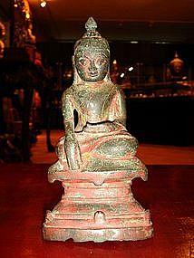18th Century Buddha, Bronze, Shan State, Burma