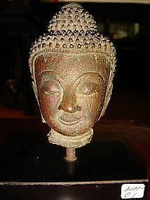 Ayuthaya Bronze Buddha Head, 18th Century, Siam