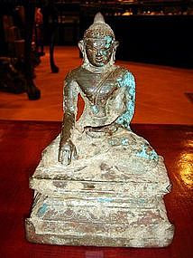 Bronze Sculpture of Buddha, Mon-Pagan, Burma