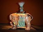 Polychrome Porcelain Joss Stick Elephant Holder, China