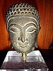 Bronze Head of Buddha, Ayutthaya, 17th Century, Siam