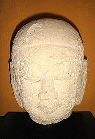 18th Century Stucco Ava Period Head, Burma